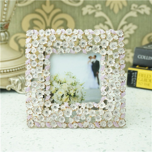 Metal photo frame / Jasmine flower photo frame