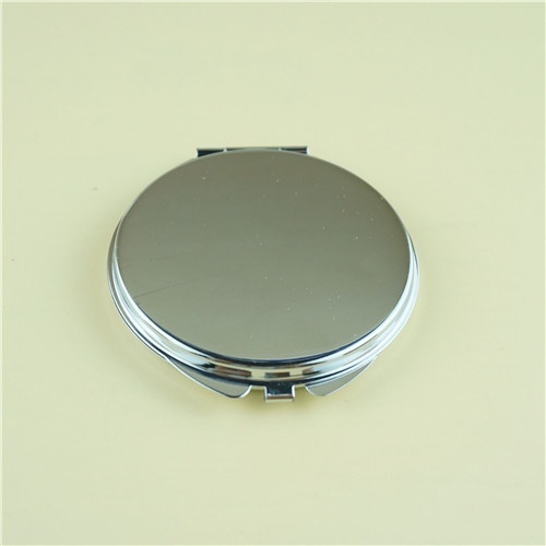 plain engraved compact mirror/silver plated compact mirror