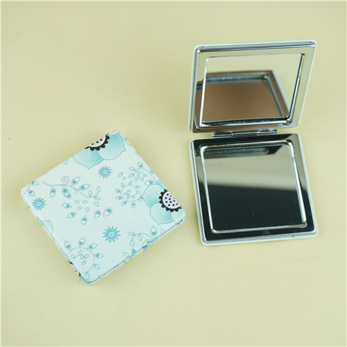 PU compact mirror/pastoralism square compact mirror