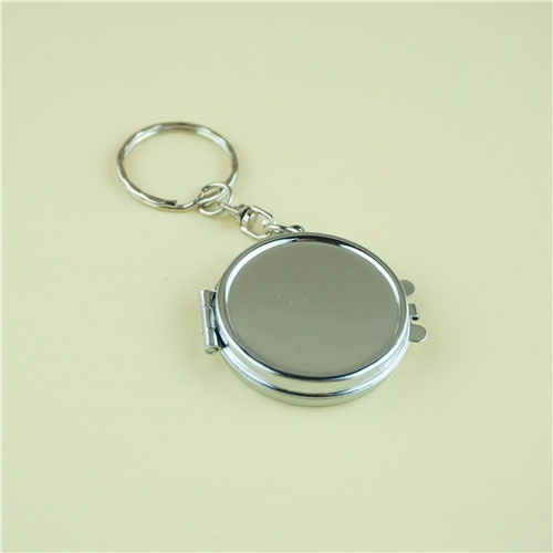mini round compact mirror with key ring/promotion gifts
