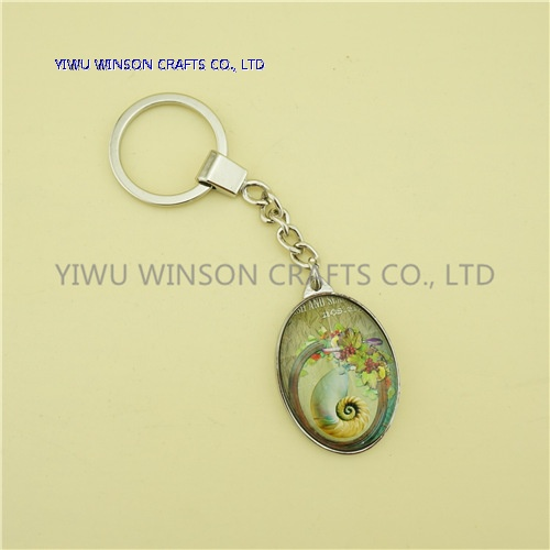Single Side Crystal Key Chain/Custom Logo Key Chain