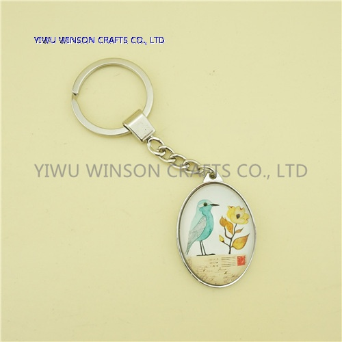 Single Side Bird Crystal Key Chain/Custom Logo Key Chain