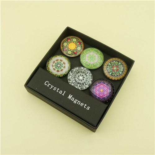 Eco-friendly Crystal Magnets with 4c Pringting Sticker