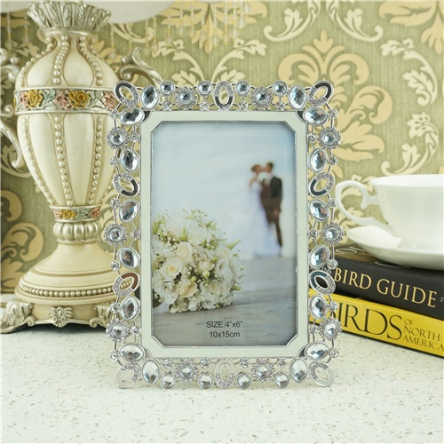 Luxurious crystal photo frame/zinc alloy photo frame