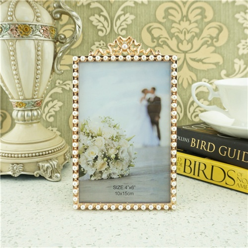 Golden pearl photo frame/custom picture frames