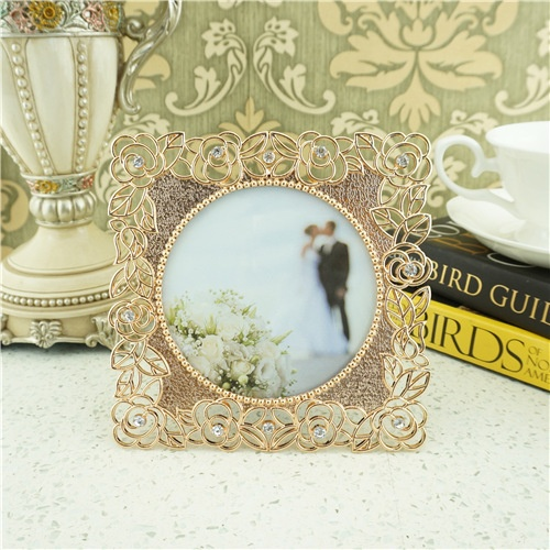 Metal diamond art photo frame/Rose decorative border  picture frame