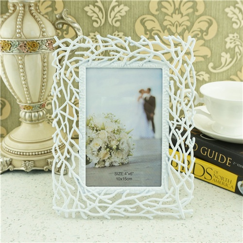 White metal photo frames/personalized photo frames
