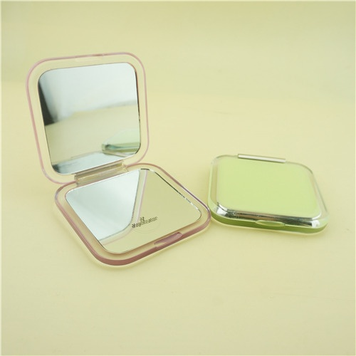 Yellow square makeup mirror/Acrylic compact mirror