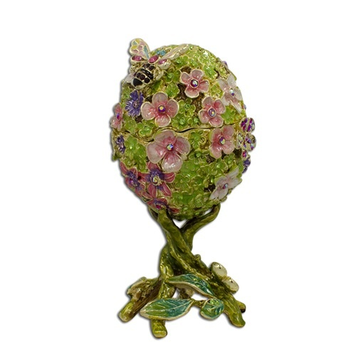Faberge egg trinket box of gift