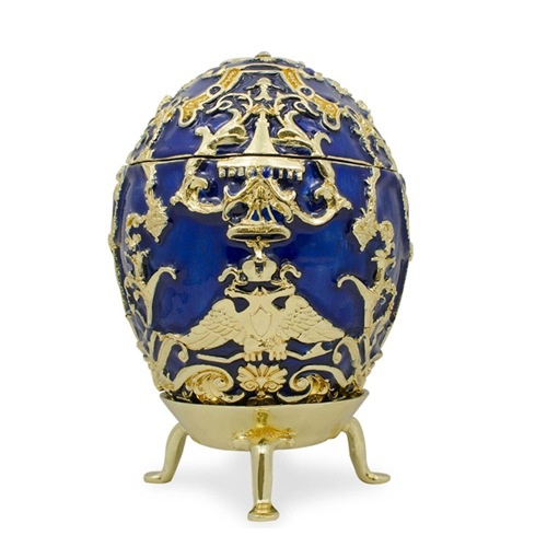Decorative faberge egg trinket jewel box