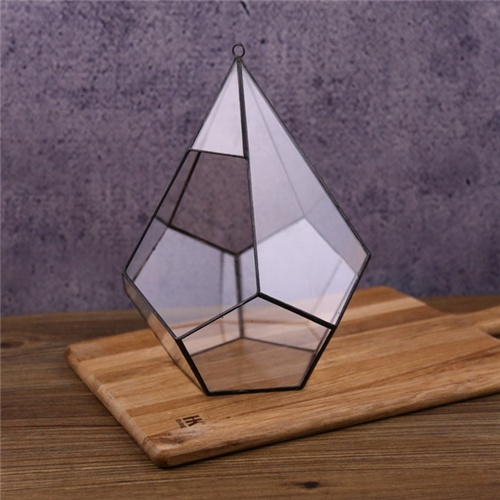 Wholesale hot sale clear geometric glass plant terrarium
