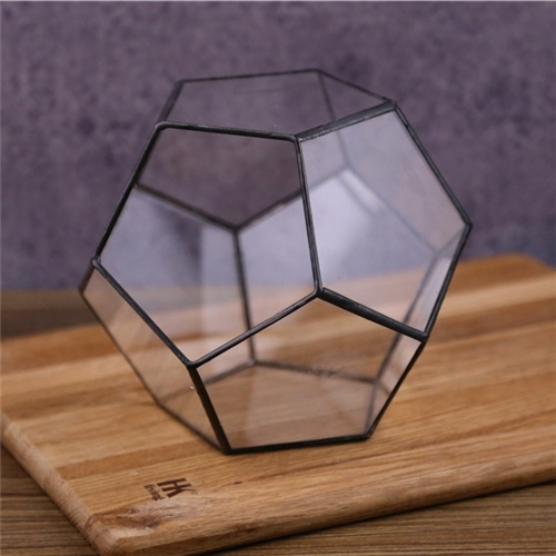 2017 wholesale glass terrarium geometric for plant