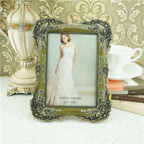 Metal photo frame / vintage rural style photo frame